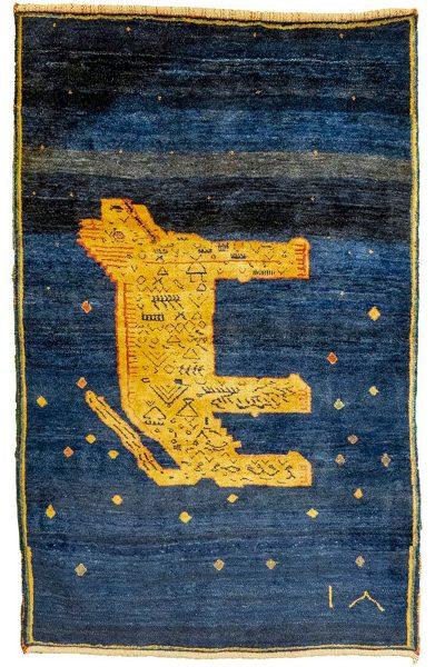 Gabbeh Lion rug