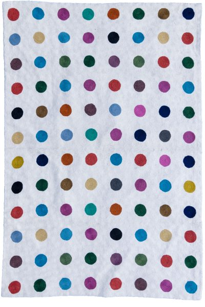 Multi-coloured spot Rug