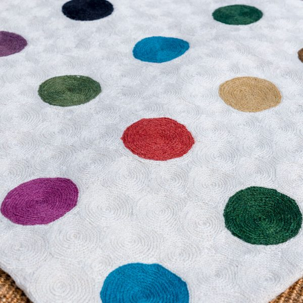 Multi-coloured spot Rug