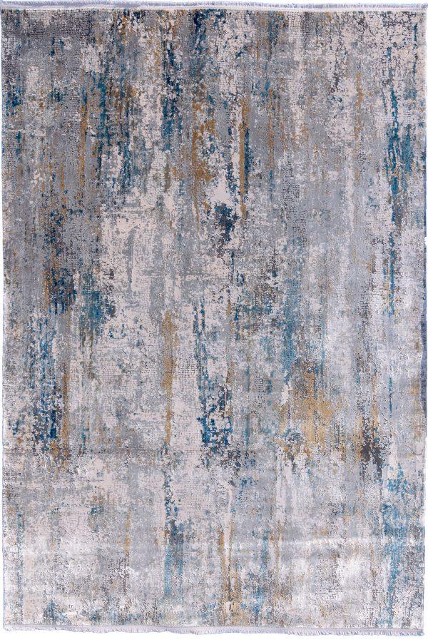 Torus Illustration Ice Blue Rug