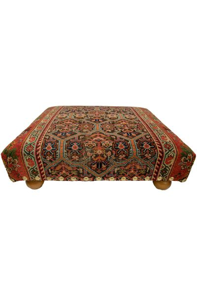 Old Carpet Covered Stool