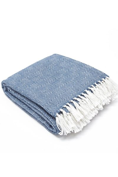 Weaver Green Blanket - Diamond Navy