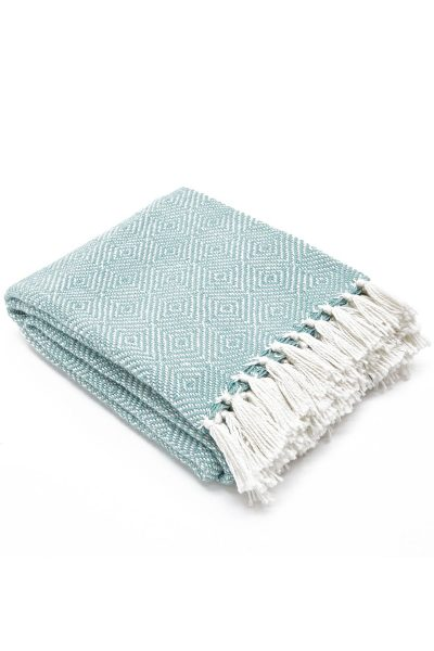 Weaver Green Blanket - Diamond Teal