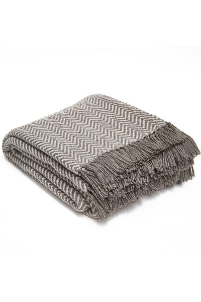 Weaver Green Herringbone Blanket - Tabby