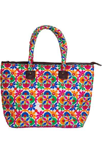 Pink Embellished Flower Handbag