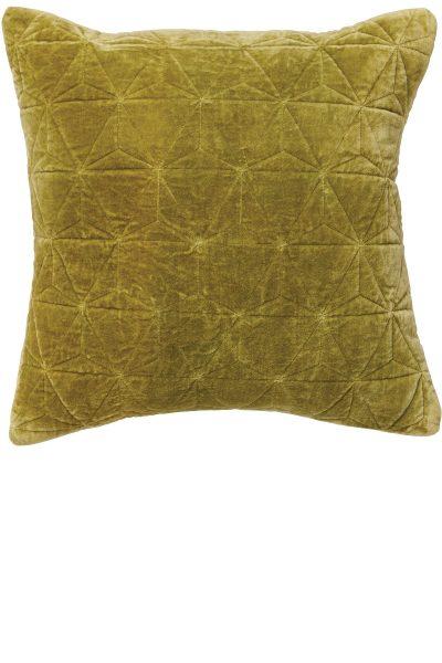 Stonewash Velvet Cushion – Army Green