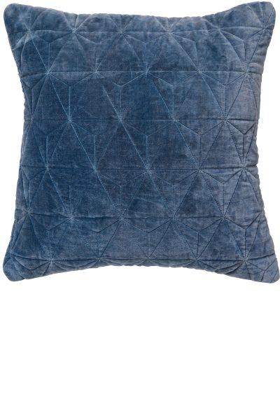 Stonewash Velvet Cushion – Petrol Blue