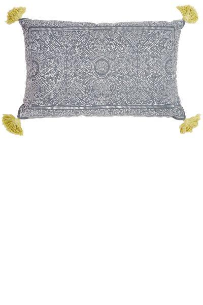 Kas Navy & Gooseberry Cushion