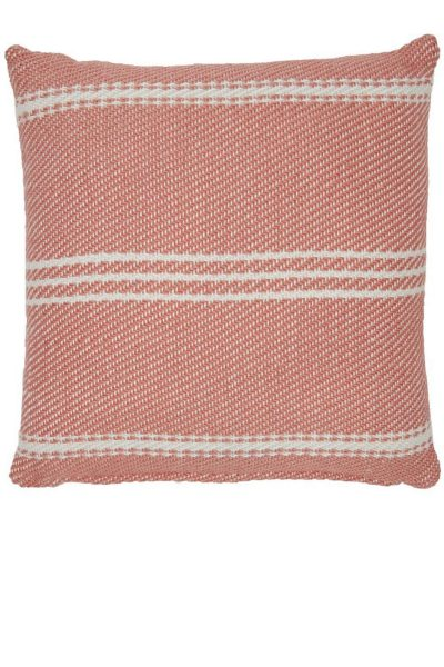 Lightweight Oxford Stripe Coral Cushion
