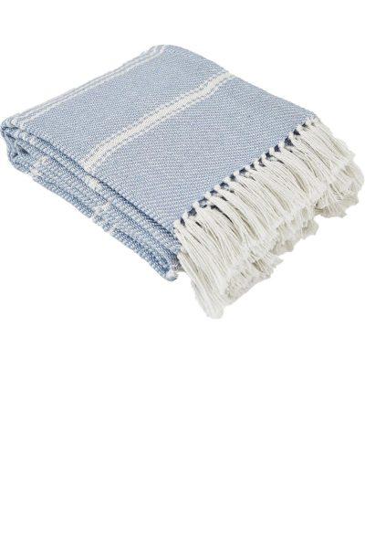 Oxford Stripe Lavender Blanket