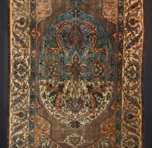 . Mounting silk rug onto padded display board