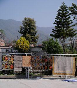 Nepal - Drying Rugs